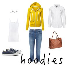 """""""HOODIES"""" by margie-g on Polyvore featuring moda, J Brand, Vince, Polo Ralph Lauren, Witchery i Converse"""