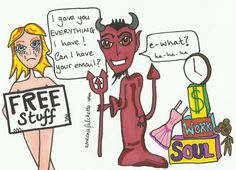 Should I be giving away FREE stuff on my blog? Make sure you aren't making a deal with the devil!