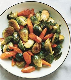 Great brussel sprout & other veges side dish.