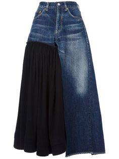 f970e1f1f44d Shop Yohji Yamamoto Vintage denim skirt.