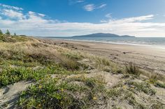 Kapiti Island from Waikanae Beach near Olliver Grove, Kapiti Coast, New Zealand . Great Places, Places Ive Been, Toyota Camper, New Zealand, Coast, Around The Worlds, Island, Mountains, Gallery