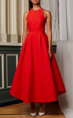 NY Fashion Week Rosie Assoulin Spring 2015 Trunkshow Look 28 - Moustache Dress