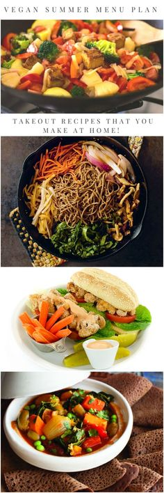 This vegan summer meal plan has 7 easy vegan recipes that will satisfy your takeout cravings on a budget!