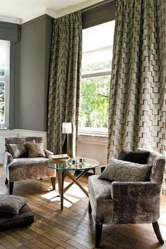 Casamance fabrics and wallpapers are among the most exquisite contemporary design for interiors available anywhere in the world. Casamance, Fabric Wallpaper, Palazzo, Contemporary Design, Curtains, Interior, Home Decor, Image, Blinds