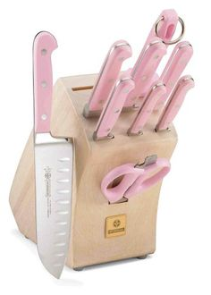 Mundial 5100 Series 10-Piece Knife Set with Block, Pink. I didn't even know mundial made knives!