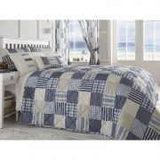 Dreams n Drapes Penzance Quilt in Blue