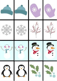 Free Printable Christmas Games for Kids - 2 Making Life Blissful: Free Printable Winter Games for Ki Free Christmas Games, Printable Christmas Games, Christmas Activities For Kids, Kids Christmas, Christmas Crafts, Printable Party, Card Games For Kids, Memory Games For Kids, Kids Cards
