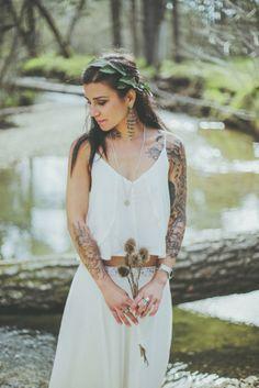 David Latour – Shooting inspiration – Un mariage  dans la nature – La mariee aux pieds nus