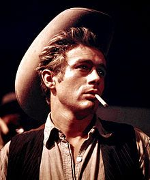 James Byron Dean (February 8, 1931 – September 30, 1955) was an American actor.[1] He is a cultural icon of teenage disillusionment, as expressed in the title of his most celebrated film, Rebel Without a Cause (1955), in which he starred as troubled Los Angeles teenager Jim Stark. The other two roles that defined his stardom were as loner Cal Trask in East of Eden (1955), and as the surly ranch hand, Jett Rink, in Giant (1956). leading roles.
