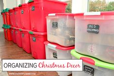 Organizing Christmas Decor — how I put it all away and have it ready for next year. @ItsOverflowing.com