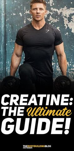 Check out Creatine: The Ultimate Guide! Creatine is the one of the most powerful supplements on the market that can help you improve your strength, increase power output during workout, and improve muscle growth in general. #fitness #creatine #bodybuilding #gym #workout #exercise