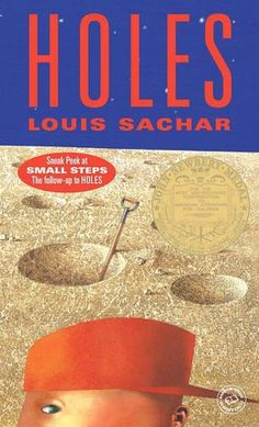 Holes by Louis Sachar. Realistic fiction adventure novel that will keep them interested. See the movie, too. it stays true to the book. Books You Should Read, I Love Books, Great Books, Books To Read, Ya Books, Amazing Books, Music Books, Music Tv, This Is A Book