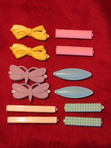 Colorful plastic barrettes  (always had these in my hair)