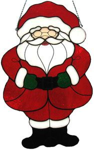 Claus Kit - No Glass Cutting Required Create festive projects to decorate your home or give as gifts in a snap with this fun pre-cut kit. Stained Glass Kits, Stained Glass Supplies, Stained Glass Christmas, Stained Glass Projects, Stained Glass Patterns, Christmas Themes, Christmas Crafts, Christmas Decorations, Felt Christmas