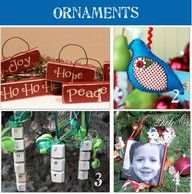 28 handmade ornaments