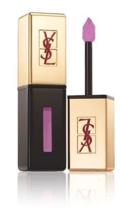 How to wear 2014's hottest makeup shade: radiant orchid. Try this glossy stain from Yves Saint Laurent!