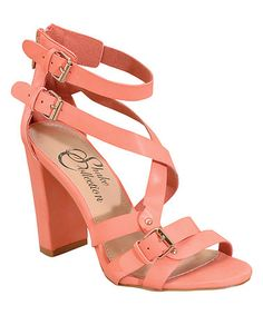 a3fce7ef2781ca Coral Beyonce Sandal by Shake Shoes  zulilyfinds Coral