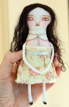 cloth pastel-colored doll