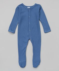 Love this Periwinkle Thermal Footie by Luca Charles on #zulily! #zulilyfinds