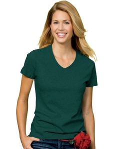 Hanes 5780 Relaxed Fit Women Comfortsoft VNeck TShirt Extra Large Deep Forest Green *** See this great product.Note:It is affiliate link to Amazon.