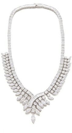 Kenneth Jay Lane Gatsby Marquis Baguette Necklace on shopstyle.com