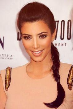 Kim Kardashian || Hair Side Braid and Love the Makeup