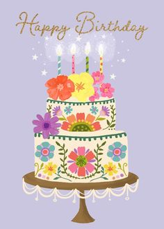 Happy Birthday Art, Birthday Treats, Happy Birthday Greetings, Birthday Cupcakes, Birthday Images, Birthday Cake With Flowers, Happy Everything, Fun At Work, Birthdays
