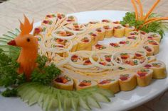 Aperitive Decoration, Yummy Food, Ethnic Recipes, Style, Fruit Carvings, Cook, Turkey Bird, Eggs, Pastries