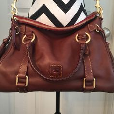 Dooney and Bourke Florentine Satchel Small size. Dimensions are the same as my other listing for Blk Dooney and Bourke. Color is Chestnut. Brand new condition. Not my everyday bag. Dooney & Bourke Bags Crossbody Bags
