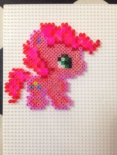 Hama bead mini: pinky pie Pyssla my little pony