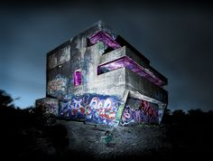 Cool Bunker with Gorgeous graffiti by brentbat, via Flickr