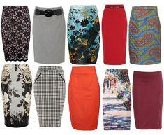 vestuario basico pencil skirt