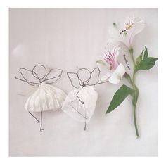 Wire flower fairies for little girls by Fili di poesia
