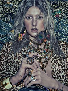 Sigrid Agren Models Bold Prints for Numéro #142 by Sebastian Kim | Fashion Gone Rogue: The Latest in Editorials and Campaigns