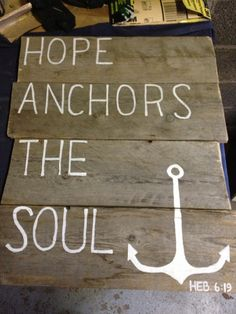 Hand painted Pallet Sign. $45.00, via Etsy.