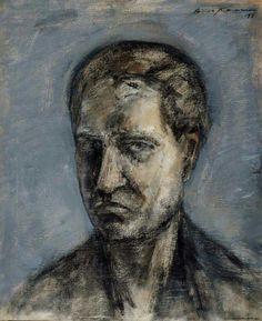 Aimo Kanerva (1909 - 1991) Self-Portrait, 1956