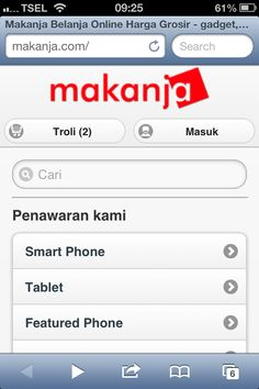 Mobile site makanja.com dilihat dari smartphone, dalam hal ini Safari di iPhone. Sudah browse makanja.com dari handphone kamu?