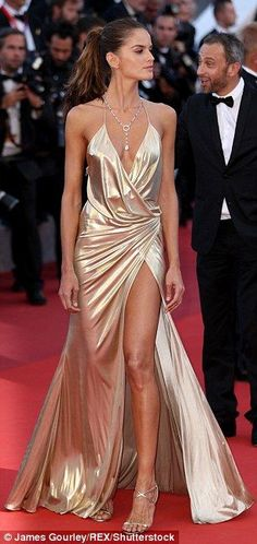 Leggy display: She has looked impeccable both on and off the red carpet at Cannes
