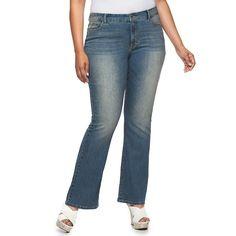 Plus Size Jennifer Lopez Bootcut Jeans, Women's, Size: 24W T/L, Dark Blue