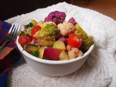 Sautéed Rainbow Cauliflower - QueRicaVida.com