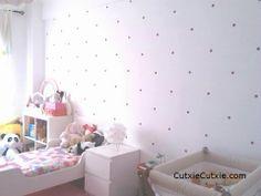 Kids Room, Girls Room, nursery use funfetti decals, polka dot Room Girls, Kids Room, Polka Dot, Decals, Nursery, Table, Furniture, Home Decor, Polka Dots