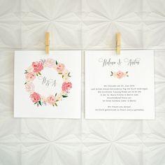 """Einladungskarten - Hochzeitseinladung """"LE JARDIN"""" - ein Designerstück von bonjourpaper bei DaWanda"""