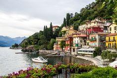 """""""Harbor on Lake Como"""" is my study from 2011 of the beautiful harbor of Varenna Italy. It remains my most popular image. By photographer Dennis Smith."""