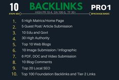 I will do top 10 Steps Pro1 SEO package to explode your ranking on Google.