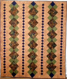 Batik & Brown Double/Full/Queen/King Quilt