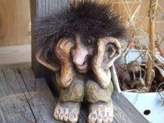 Nyform Troll Hand Made in Norway. 4 Tall. Shy. by Shamanwoman