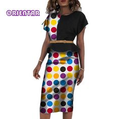 2 Pieces Women African Skirt Set Bazin Riche African Traditional Top and Skirts for Women Office Lady African Skirt Suits African Dashiki Dress, Latest African Fashion Dresses, African Dresses For Women, African Skirt, African Print Fashion, African Clothes, Maxi Skirts For Women, Beautiful African Women, Office Ladies