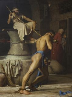 Carl Bloch- samson and the philistines (1863)