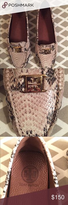 Tory Burch Kendrick - Natural Python print - 11 Brand new - never worn - no box - duster bag included Tory Burch Shoes Flats & Loafers