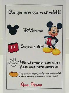 Tema Minnie e mickey Mickey Mouse Bday, Mickey Y Minnie, Mickey Birthday, Mickey Party, Mickey Mouse Clubhouse, Disney Mickey, Mickey Circo, Happy Birthday B, Birthday Treats